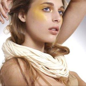 Necklush, handmade infinity, multi strand scarf OS